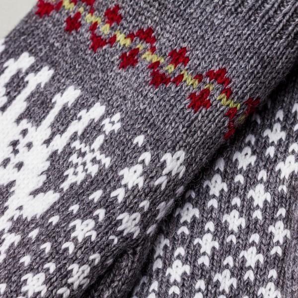 Deer Unisex Winter Pure Merino Wool Mitt