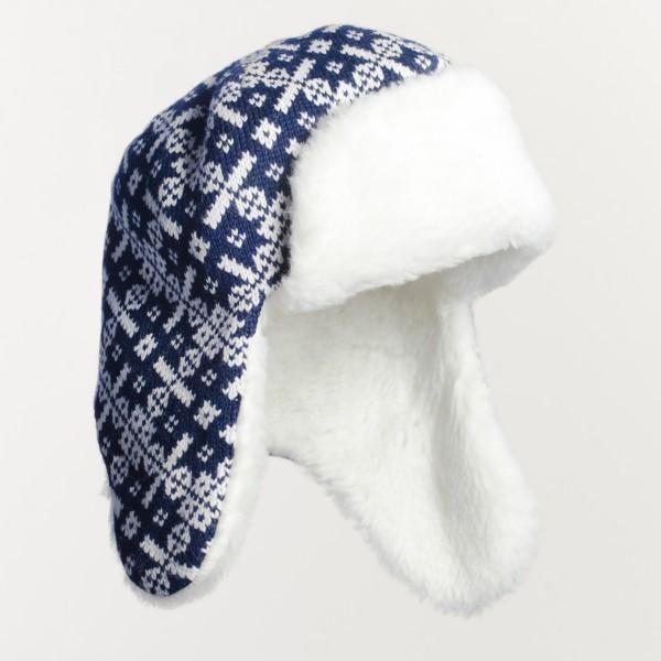Snowflake Unisex Pure Merino Wool Bomber Hat