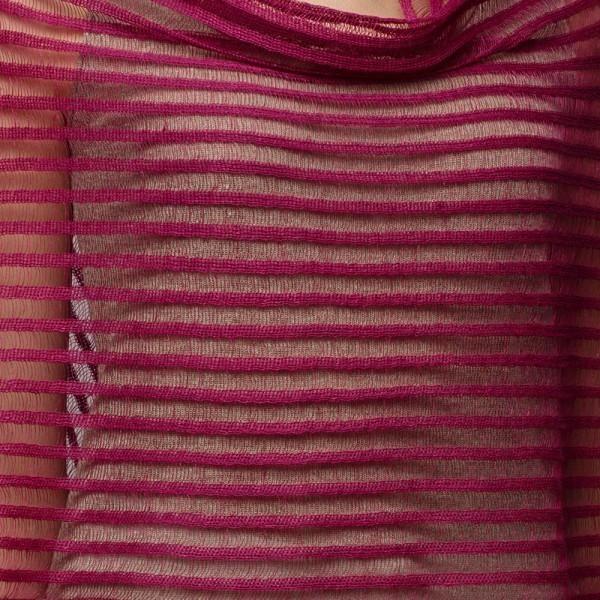 Nensi light Pure Linen Poncho fuxia