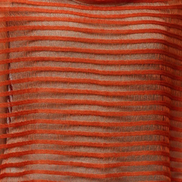 Nensi Light Pure Linen Poncho orange