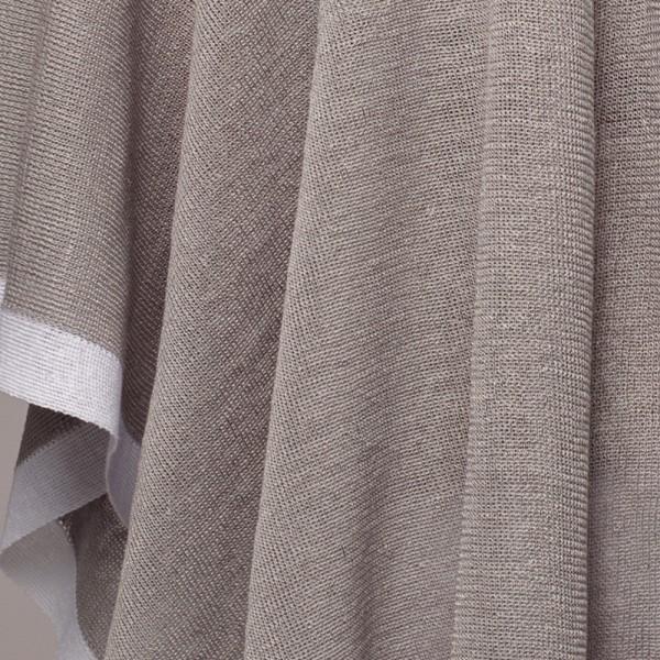 Brita Pure Linen Poncho silver-white