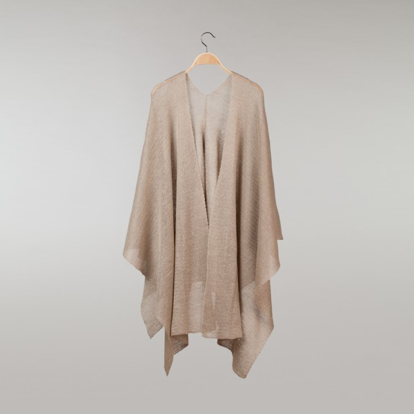 Reginella thick Pure Linen Poncho natural