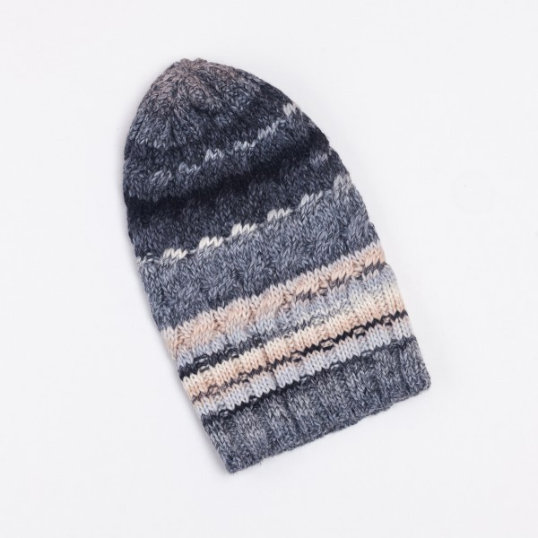Tresse Unisex Winter Merino Wool Blend Beanie Hat