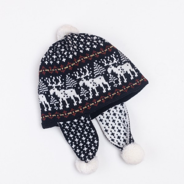 Deer Unisex Winter Pure Merino Wool Earflap Hat