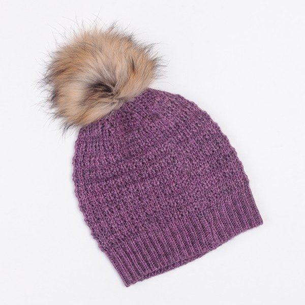 Nuage Unisex Winter Merino Wool Blend Bobble Hat