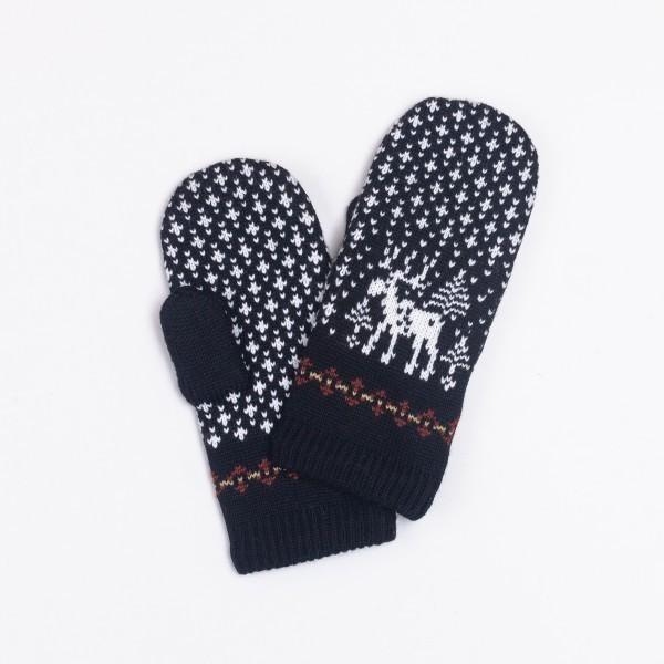 Deer Unisex Pure Merino Wool Mittens