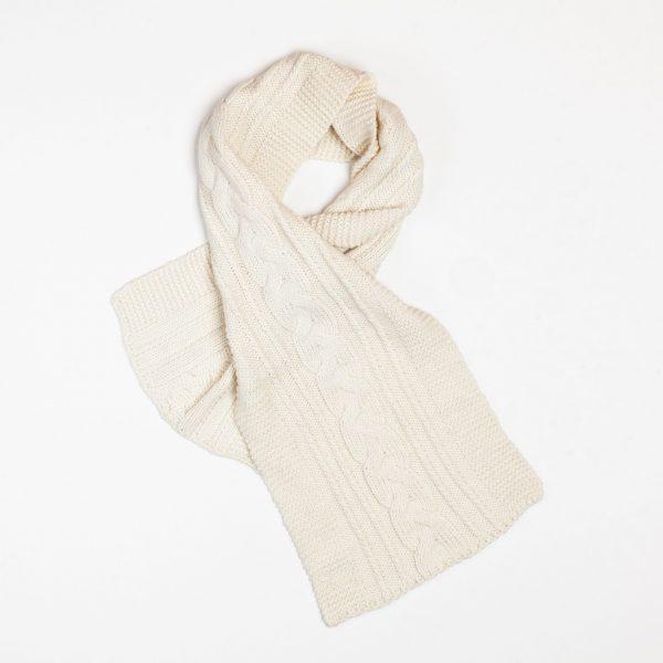 Tresse alpaca cable knit scarf