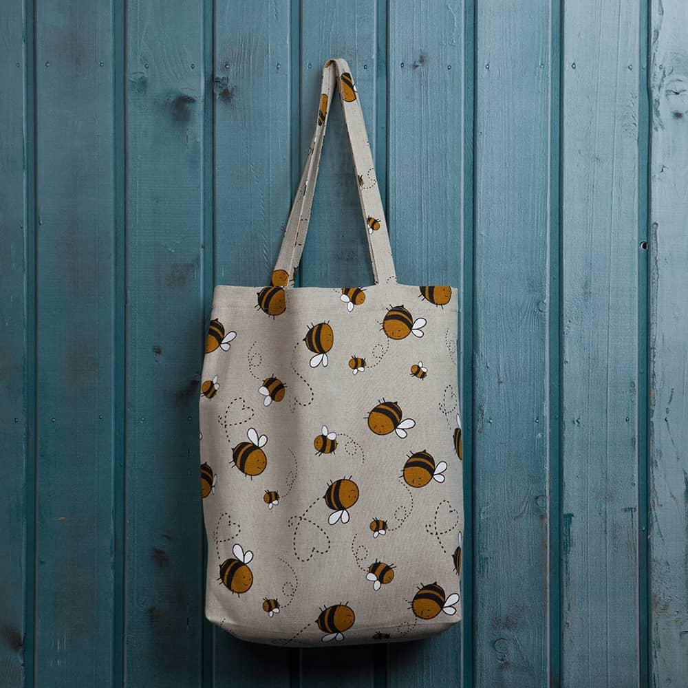Suve Bees Print Shopping Bag