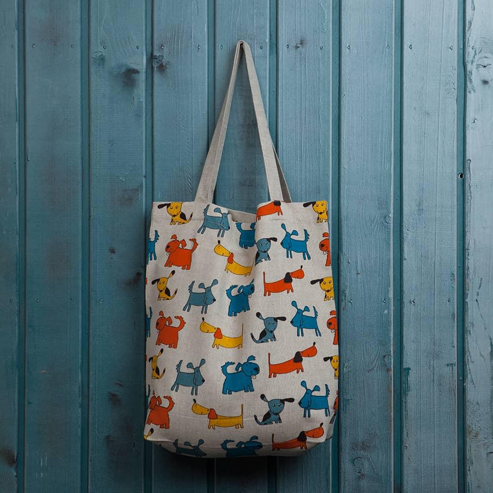 Suve Dogs Print Shopping Bag