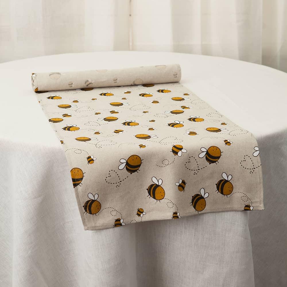 Bees Print Table Runner