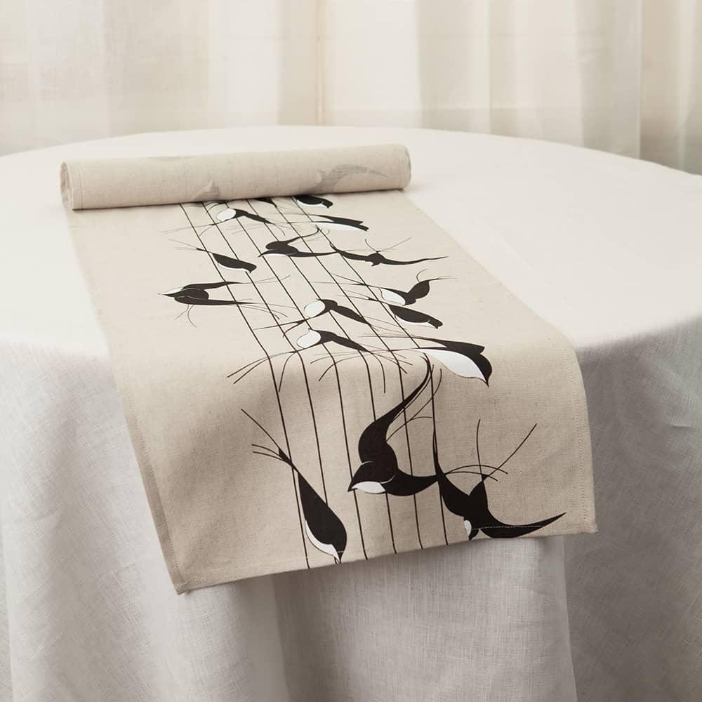 Birds Print Table Runner