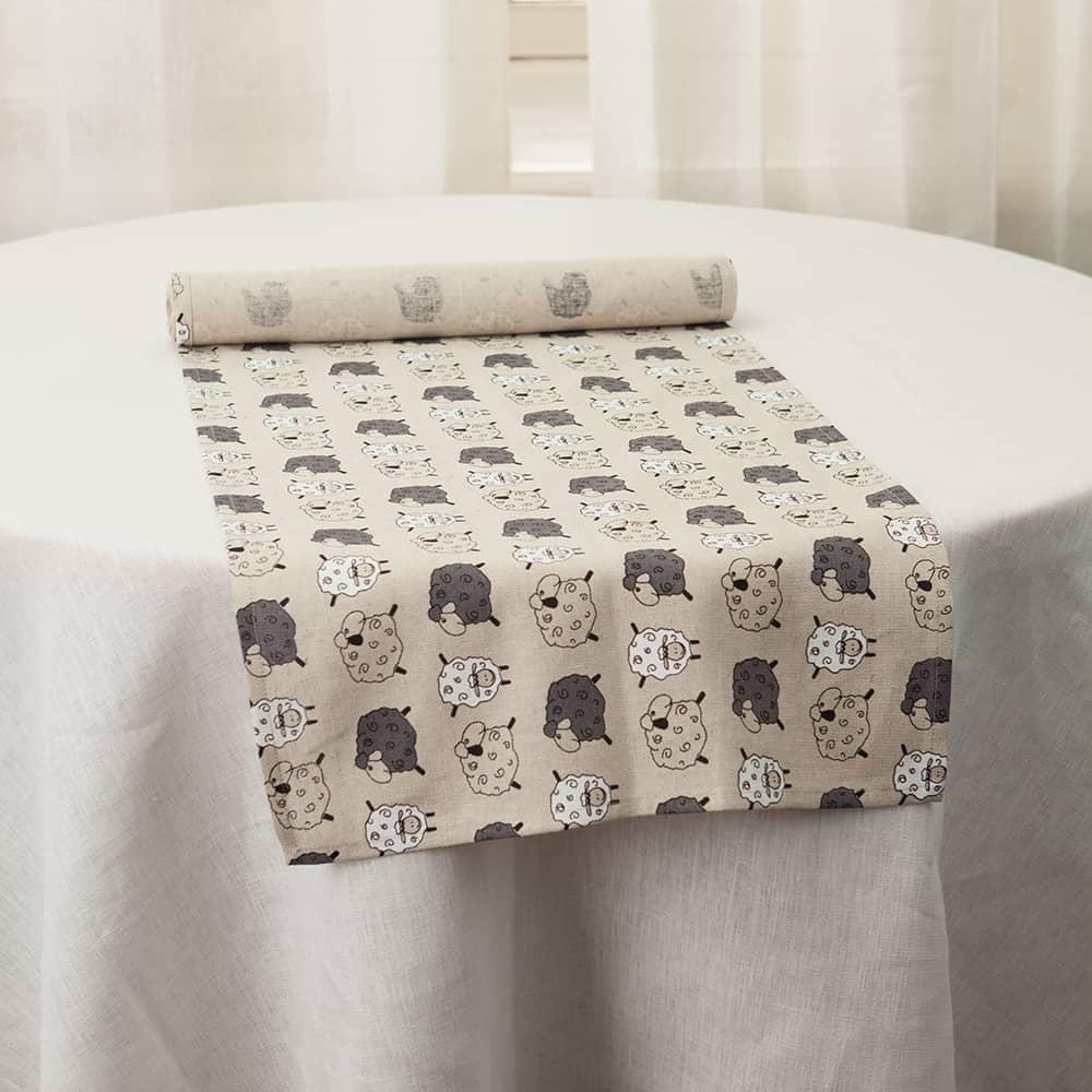 Sheeps Print Table Runner