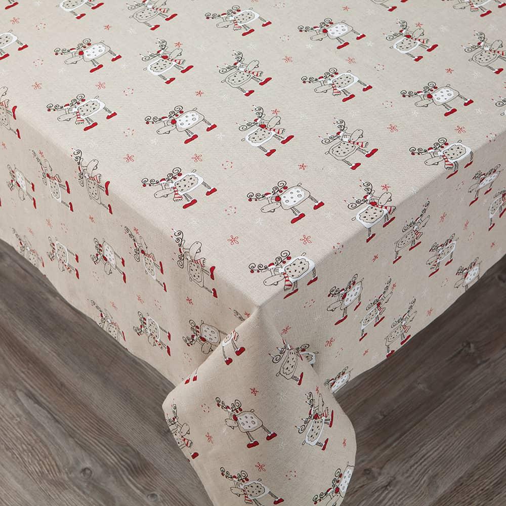 Christmas Deers Print Tablecloth