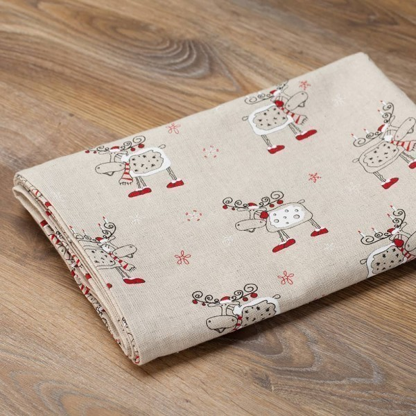 Christmas Deers Print Tablecloth