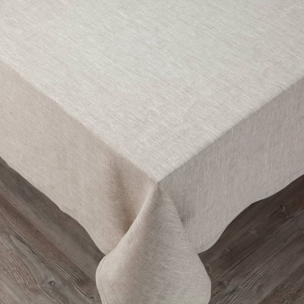 Broderi Natural Linen Tablecloth