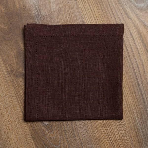 Pilutatud linane salvrätik pruun
