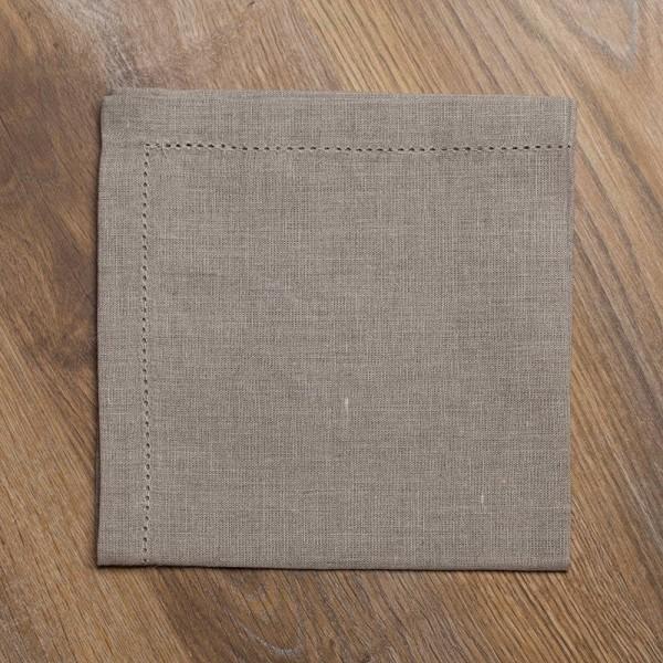 Pilutatud linane salvrätik linane hall