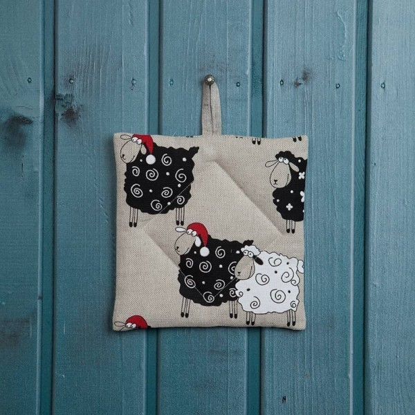 Christmas Sheeps Print Potholder