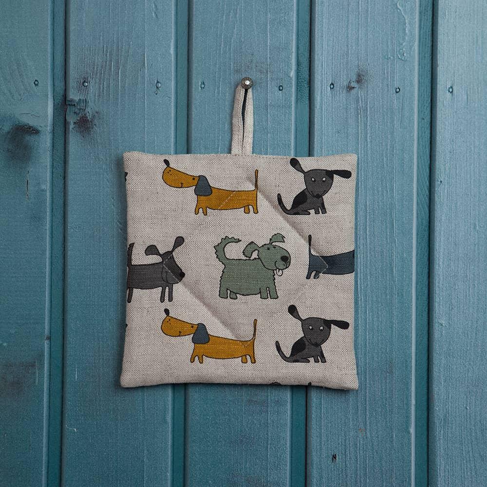 yellow dogs print potholder u2013 veta
