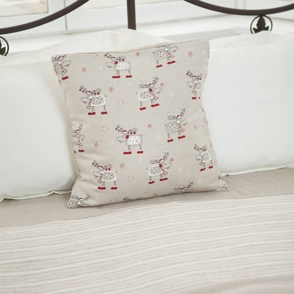 Margo Christmas Deers Print Pillowcase