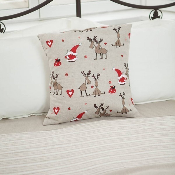 Margo Santa & Deers Print Pillowcase