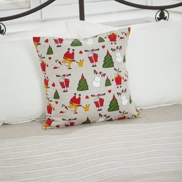 Margo Snowman & Deers Print Pillowcase