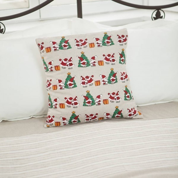 Margo Two Santas Print Pillowcase