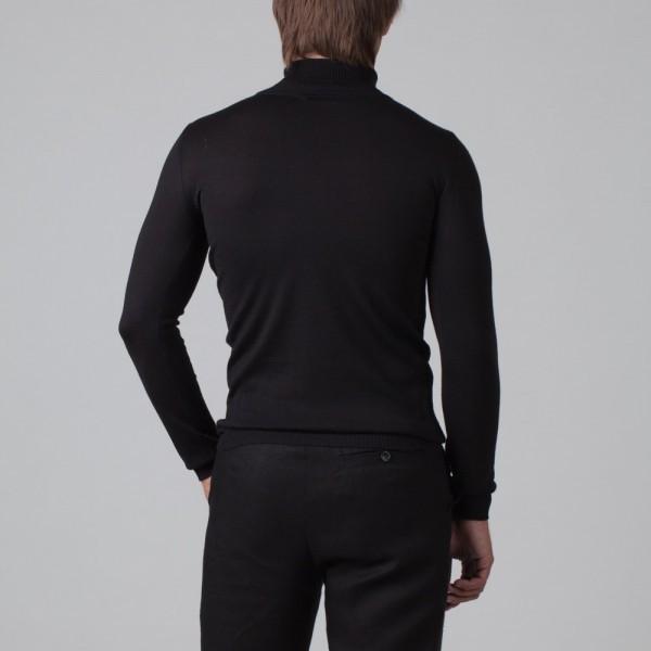 Ivan шерстяной джемпер с высоким воротником черного цвета