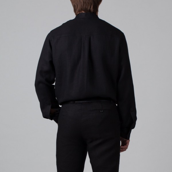 Sorento Linen Relaxed Fit Casual Shirt black