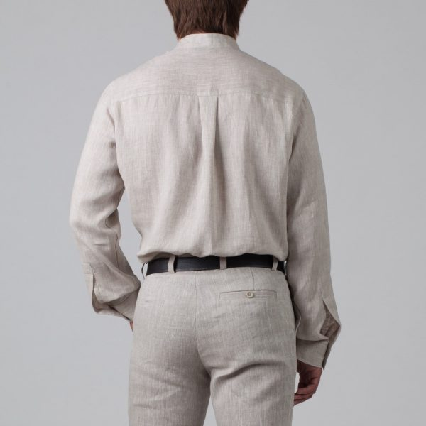 Sorento рубашка из льна свободного кроя натурального цвета