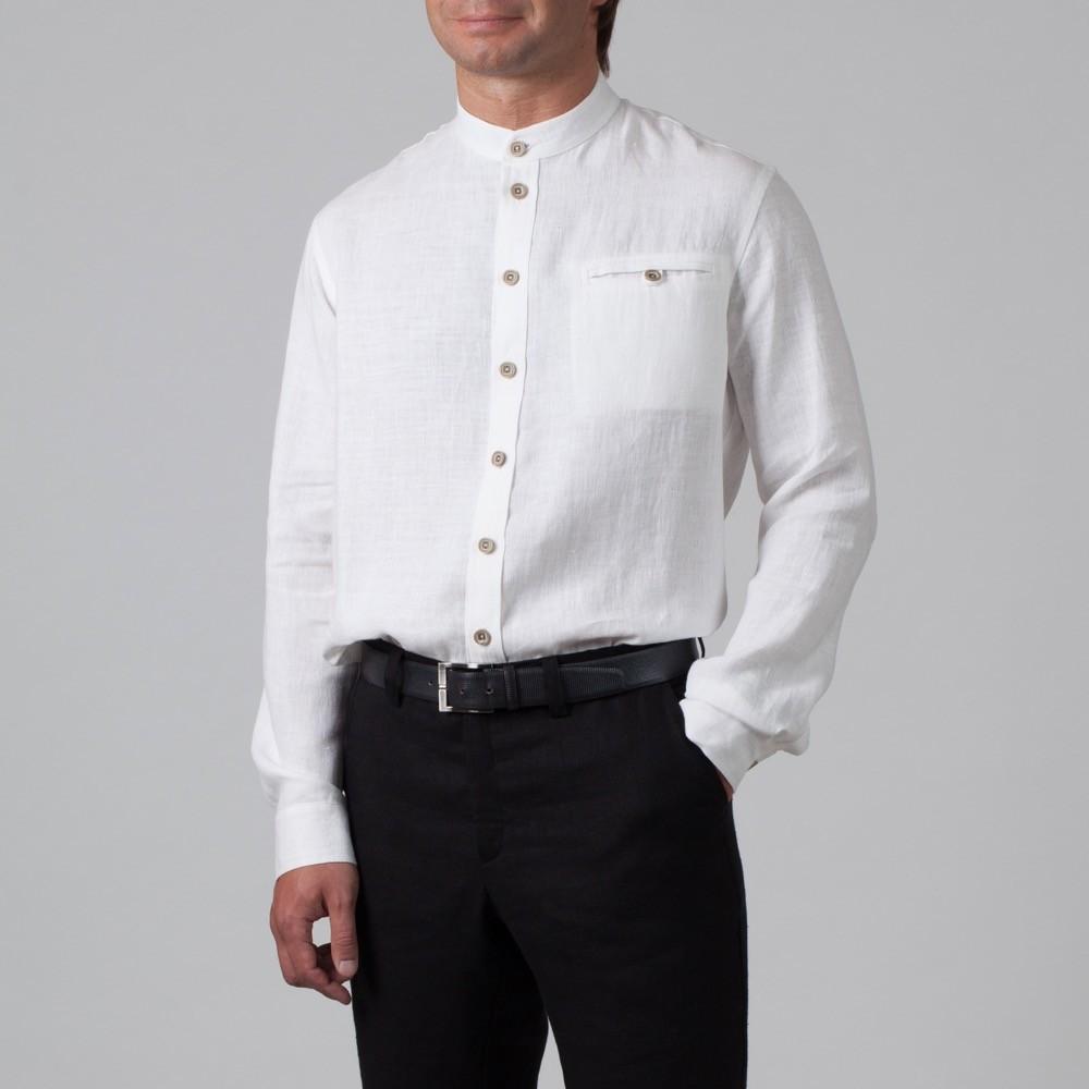 Sorento рубашка из льна свободного кроя белого цвета