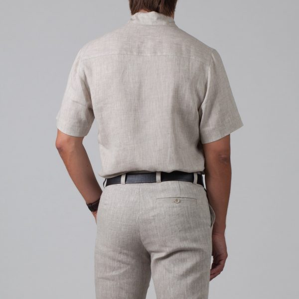 Marko Linen Short Sleeve Regular Fit Casual Shirt natural