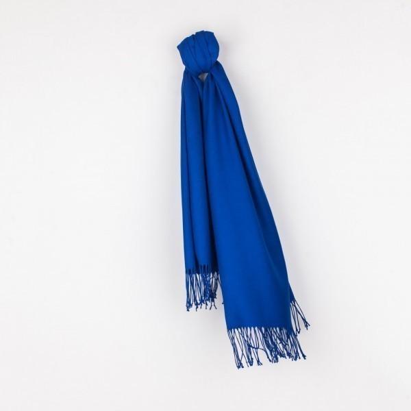 Комплект: шаль пашмина и льняная маска синего цвета