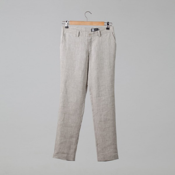 Natan Pure Linen Trousers black melange