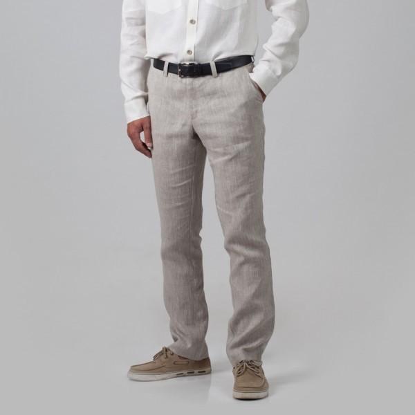 Natan льняные брюки натурального цвета
