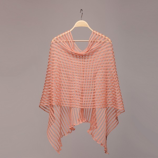 Nensi light pink Pure Linen Poncho