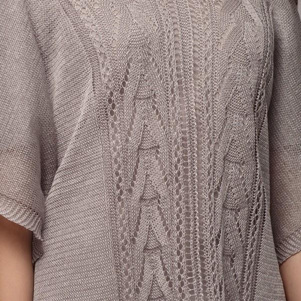 Afina pure linen poncho silver