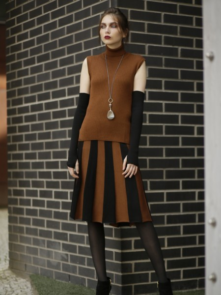 Wool knit skirt Andria and top Felina