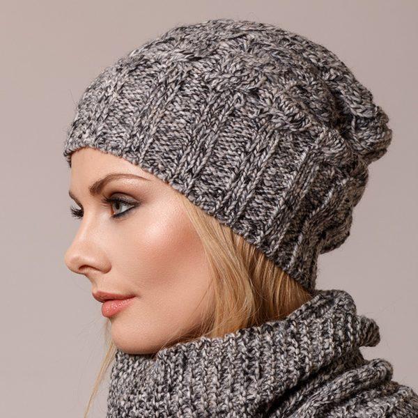 Tresse alpaca cable knit beanie