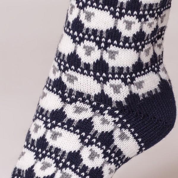 Dolly носки из чистой шерсти темно-синего цвета