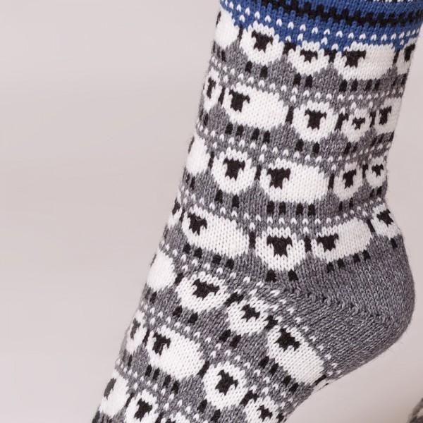 Dolly warm pure wool socks gray