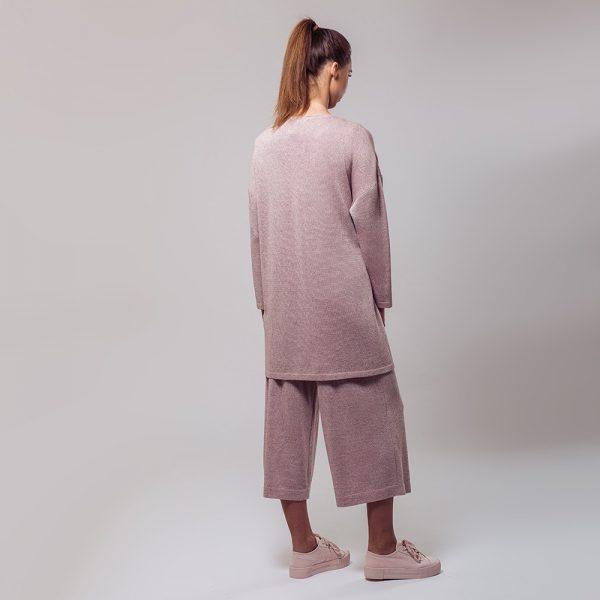 Suzanna кардиган с O-образной горловиной светло-розового цвета
