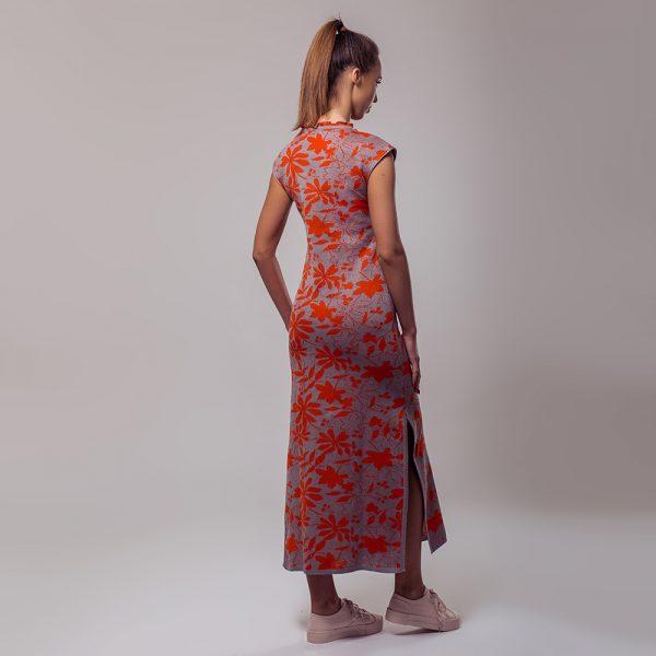 Magaly длинное льняное платье оранжевого цвета