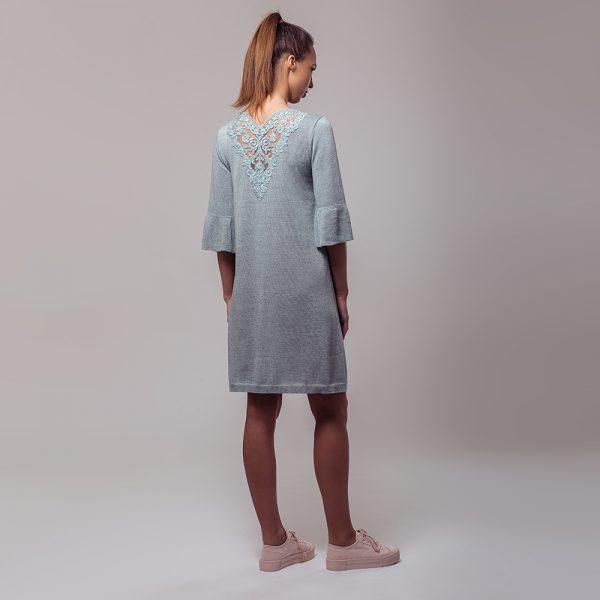 Anais kaunistatud pitsiga kootud kleit piparmündiroheline