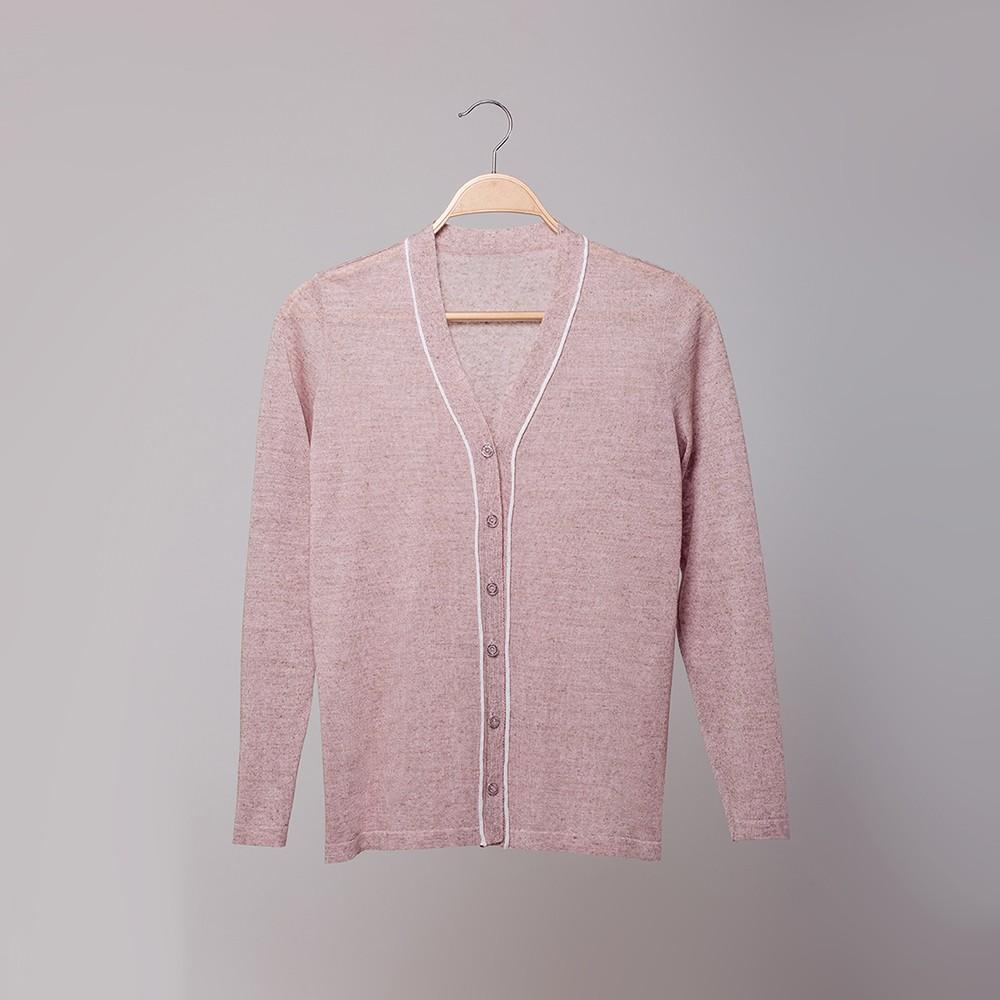 Lilian кардиган с V-образной горловиной светло-розового цвета