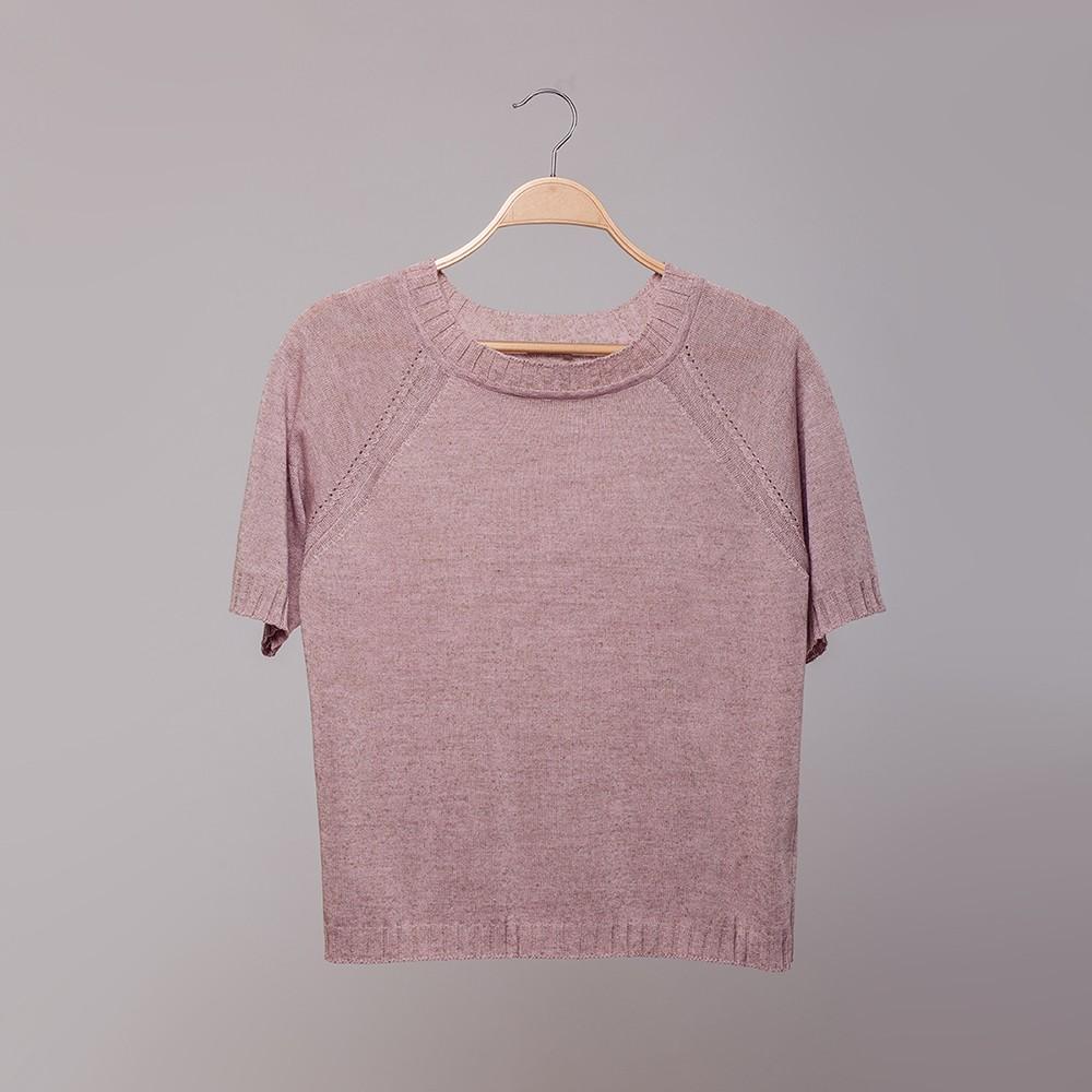 Molly топ с O-образной горловиной светло-розового цвета