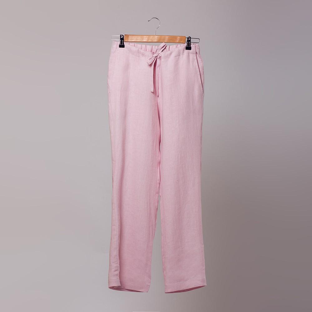 Marine розовые льняные брюки