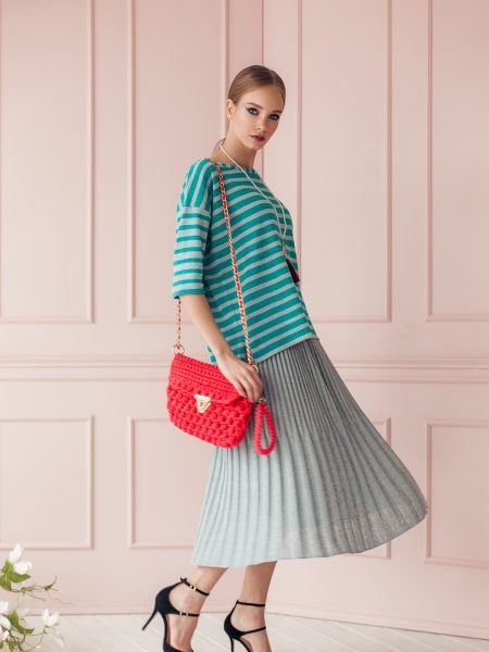 Knitted top Lotta and skirt Meia