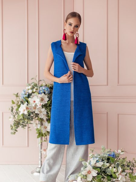 Asti linen knitted waistcoat
