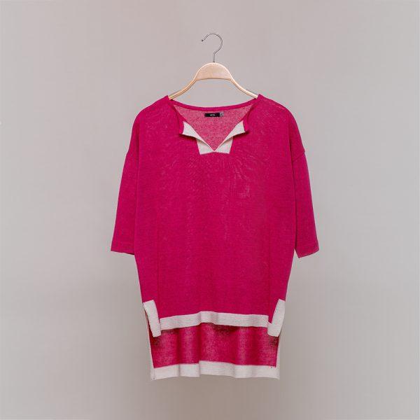 Jenna knit pink pullover